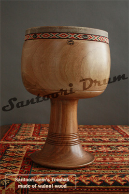Persian Tombak made of walnut for Sale
